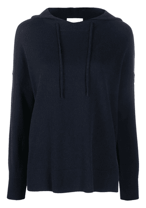 Allude knitted drawstring hoodie - Blue
