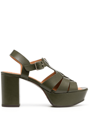 Chie Mihara Darlin cut-out platform sandals - Green