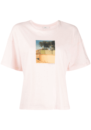 Closed Closed for Vacation boxy T-shirt - PINK