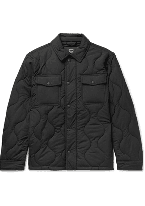 Aimé Leon Dore - Woolrich Quilted Padded Stretch-Ripstop Shirt Jacket - Men - Black
