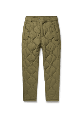 Aimé Leon Dore - Woolrich Quilted Padded Stretch-Ripstop Trousers - Men - Green