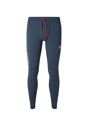 DISTRICT VISION - Lono Stretch-Jersey Running Tights - Men - Blue