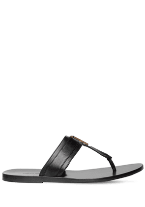 Metal T Leather Sandals