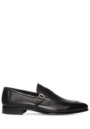 Leather Loafers W/ Buckle