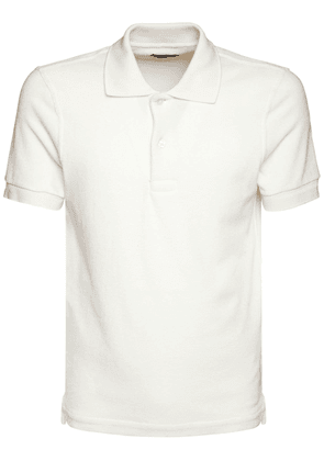 Towelling Cotton Blend Polo