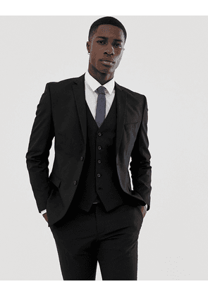 Selected Homme slim fit stretch suit jacket in black