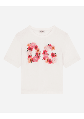 Dolce & Gabbana T-Shirts and Polos - JERSEY T-SHIRT WITH CAMELLIA DG PRINT MULTICOLOR female 4