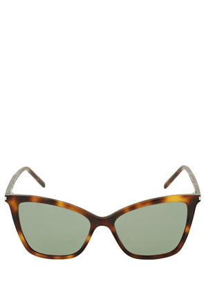 Sl 384 Thin Acetate Cat-eye Sunglasses