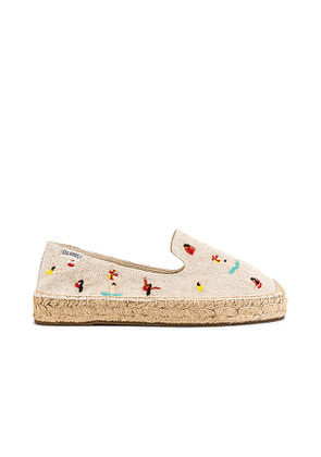 Soludos Swimmers Platform Espadrille in Neutral. Size 6.5, 7.5, 8.