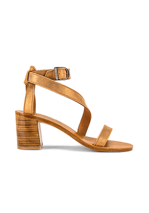 K Jacques Seraphine Heeled Sandal in Metallic Gold. Size 39.