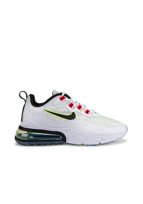Nike Air Max 270 React Sneaker in White. Size 7, 8, 8.5, 9, 9.5.
