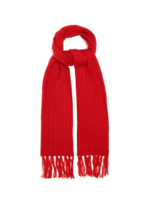 Thebe Magugu - Ribbed Wool-blend Scarf - Womens - Red