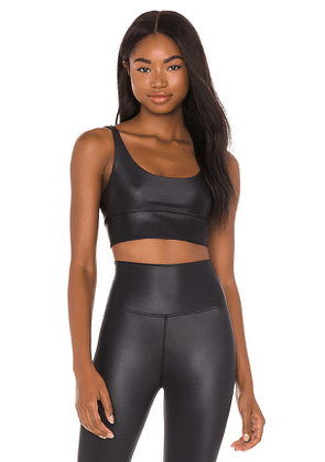 BEACH RIOT Leah Sports Bra in Black. Size S, XS.