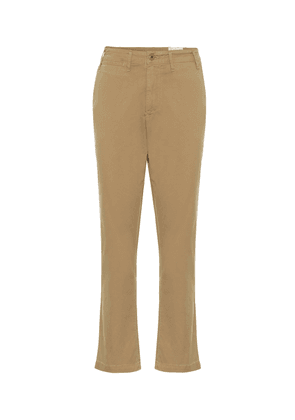 Brooke mid-rise straight stretch-cotton chinos