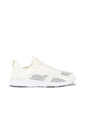 APL: Athletic Propulsion Labs TechLoom Tracer Sneaker in Ivory. Size 8, 8.5, 9, 9.5.