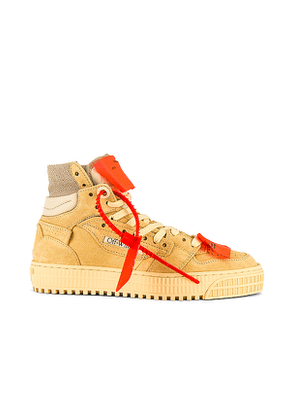 OFF-WHITE 3.0 Off Court Sneakers in Cream. Size 40.