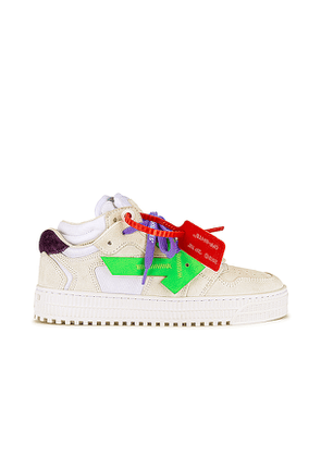 OFF-WHITE Off Court Low Sneakers in White. Size 40.