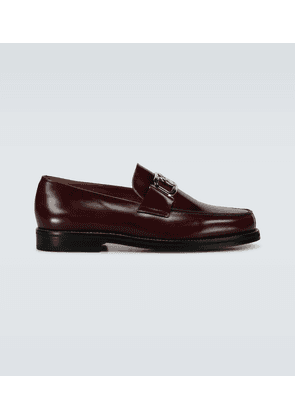 Swan loafers with logo buckle