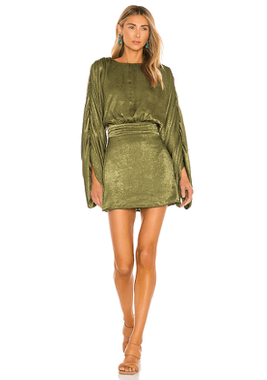 House of Harlow 1960 x REVOLVE Nika Dress in Green. Size S, XS, XXS.