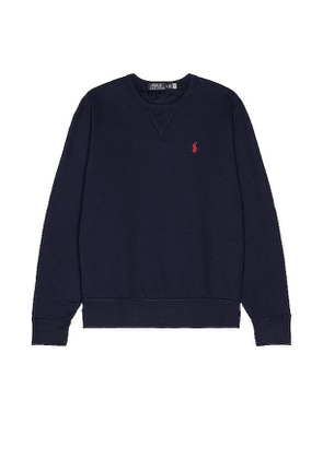 Polo Ralph Lauren Fleece Sweatshirt in Blue. Size S.