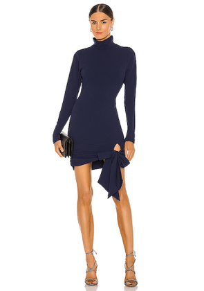 Lovers + Friends Hip Tie Turtleneck Dress in Navy. Size S, XL, XS, XXS.