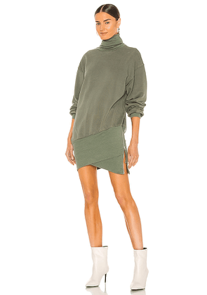 retrofete X REVOLVE Desreen Sweater Dress in Army. Size M, S, XS.