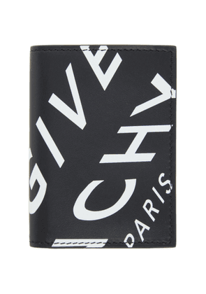 Givenchy Black and White Refracted Logo Compact Wallet