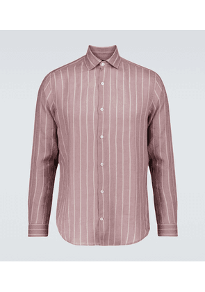 Thomas Leblon-striped linen shirt