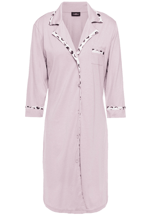 Cosabella Pima Cotton And Modal-blend Jersey Nightshirt Woman Lilac Size L