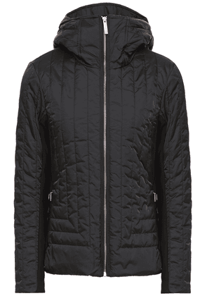 Fusalp Quilted Hooded Ski Jacket Woman Black Size 34