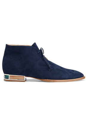 Gabriela Hearst Shepard Suede Ankle Boots Woman Navy Size 35