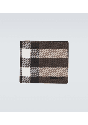 Checked bifold wallet