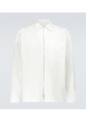 Zipped cotton shirt