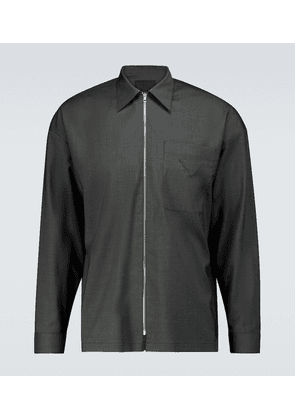 Zipped virgin wool shirt