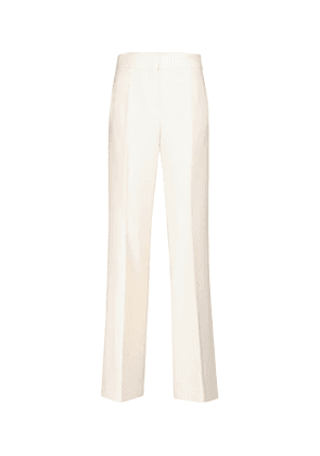 Sophisticated Perfection crêpe flared pants