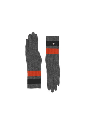 Burberry Monogram Motif Merino Wool Cashmere Gloves
