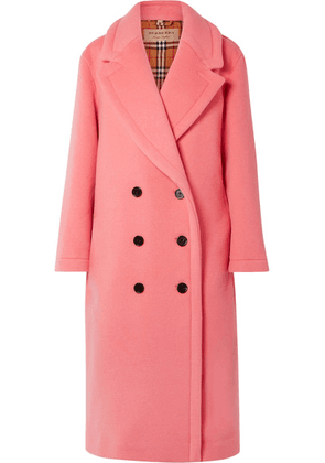 Burberry - Oversized Double-breasted Wool And Cashmere-blend Coat - Pink