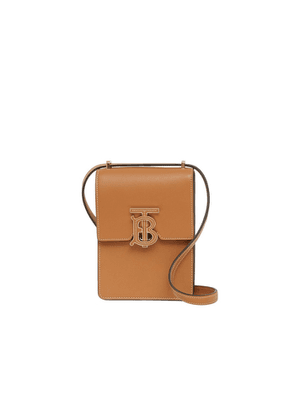 Burberry Topstitched Leather Robin Bag