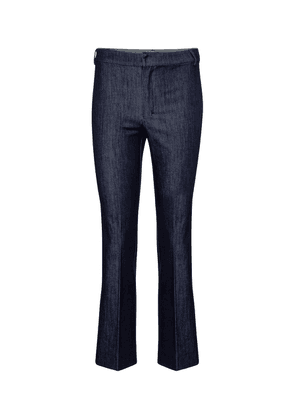 Campus straight cropped denim pants