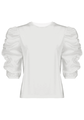 Cotton jersey and poplin top