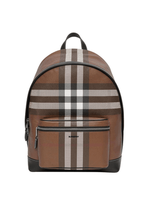 Burberry Jett Checked Leather Backpack