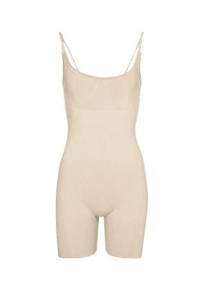 Le Body Short ribbed-knit playsuit