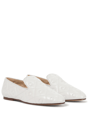 Quilted leather loafers