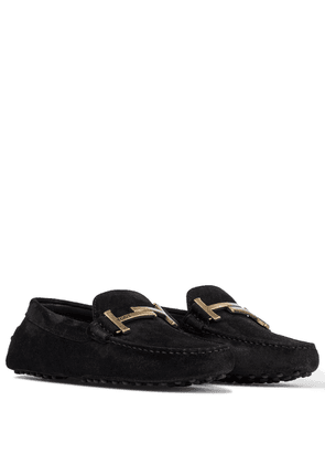 Gommino Double T suede loafers