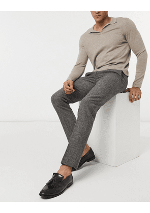 Harry Brown grey donegal slim fit suit trousers