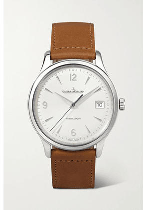 Jaeger-LeCoultre - Master Control Date Automatic 40mm Stainless Steel And Leather Watch - Silver