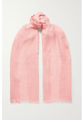 Loro Piana - Frayed Cashmere And Silk-blend Scarf - Baby pink
