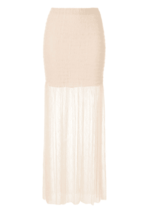 Alice McCall Harvest Moon lace skirt - Neutrals