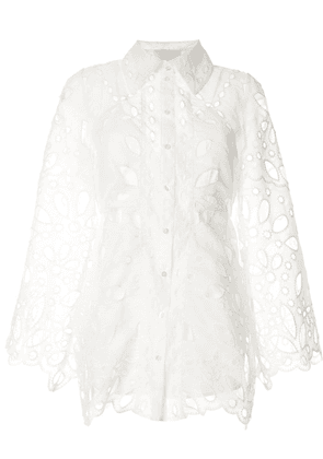 Alice McCall Baudelaire broderie anglais mini dress - White