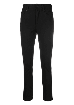 DKNY high-waisted cropped trousers - Black